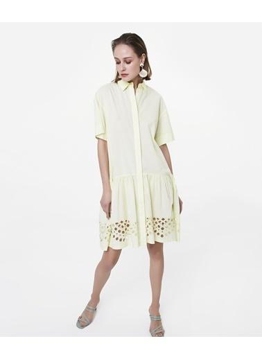 Ipekyol Gömlek Elbise Sarı